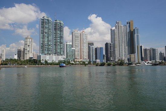 Panama Marine Adventures - AquaBus City Tour: Panama City skyline taken from the bus