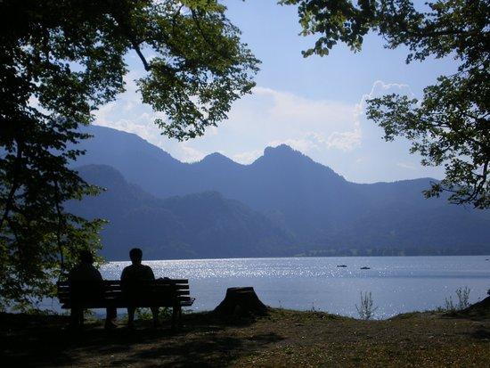 Kochel am See, Alemania: Вид на Кохельзее