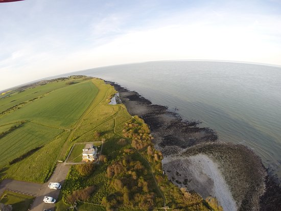St Margaret's at Cliffe, UK: Aerial view of Bluebird Cafe