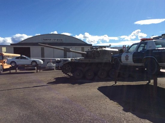 National Transport and Toy Museum: tanks and polce cars