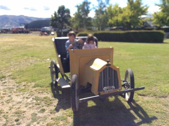 National Transport and Toy Museum: the kids had fun with the pedal pusher
