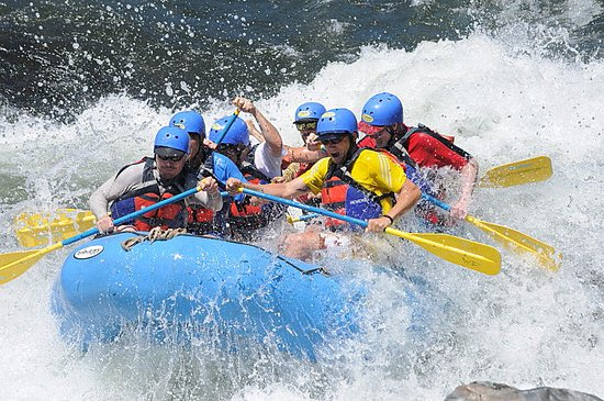 Lotus, CA: Raft Blasting thru Class 3+ Whitewater on the South Fork American River