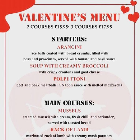 Love Is In The Air Valentine S Day 14th February Open All Day Book