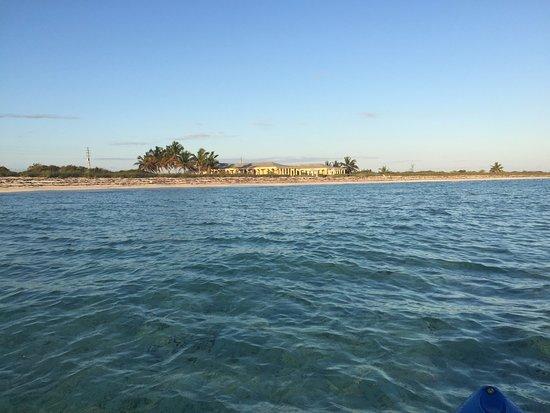 Mayaguana: Kayaking in front of the resort