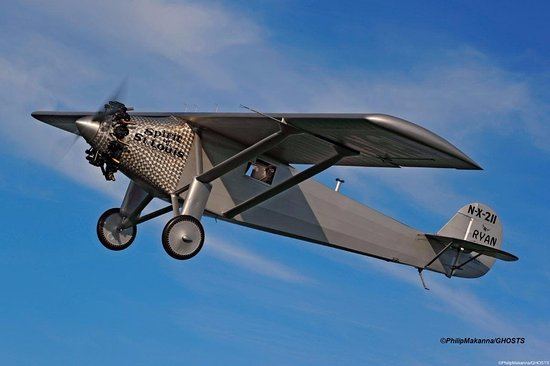 """Red Hook, NY: Reproduction 1927 Ryan NYP """"The Spirit of St. Louis"""" seen in the Skies Over Old Rhinebeck!"""