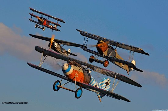 Red Hook, NY: Airshows every weekend with our fleet of World War One aircraft.