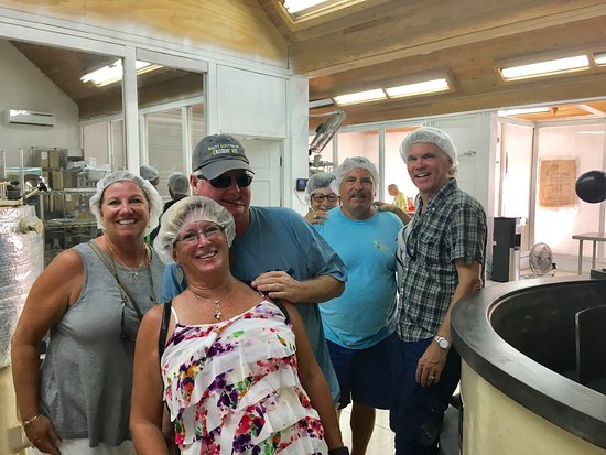 Agapey Chocolate Factory : Enjoying the chocolate tour and tasting!