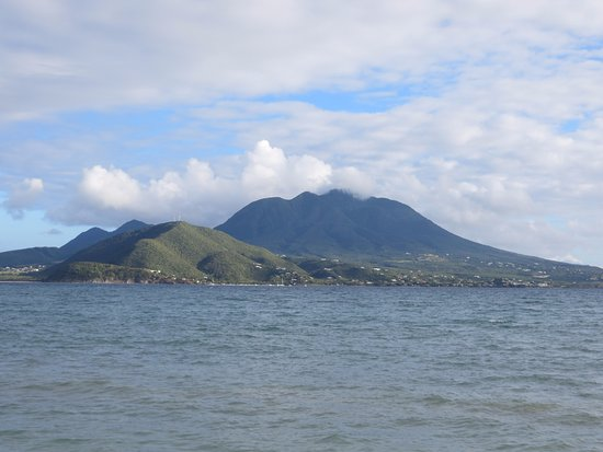 Turtle Beach : View of Nevis from the beach