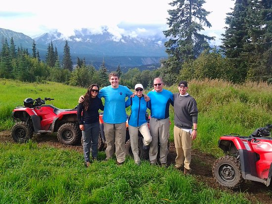 Stofel field with a Mica guide riding along with Glacier View ATV tours