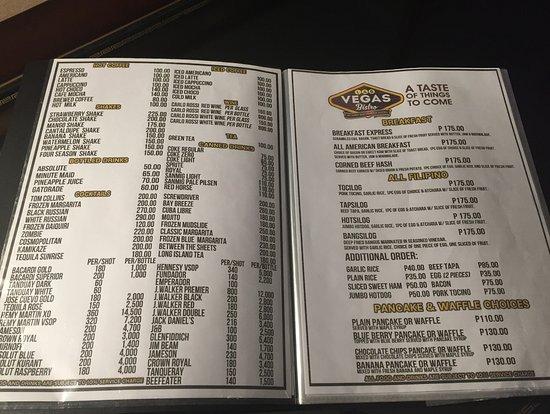 room service menu - Picture of Subic Bay Venezia Hotel, Subic Bay ...