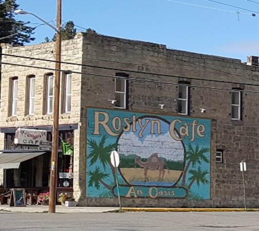 "Northern Exposure Series ""Roslyn Cafe"" mural"