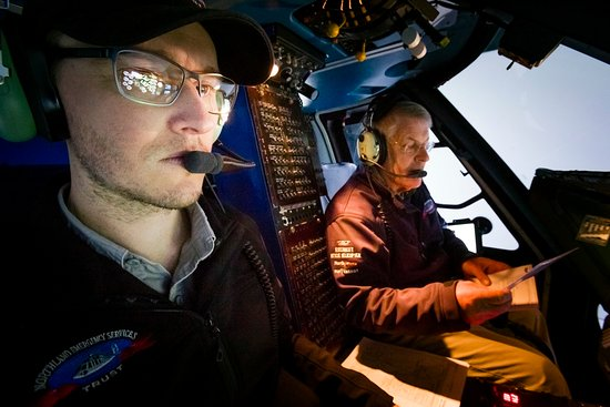 Whangarei, New Zealand: Northland Rescue Helicopter pilots doing IFR training.