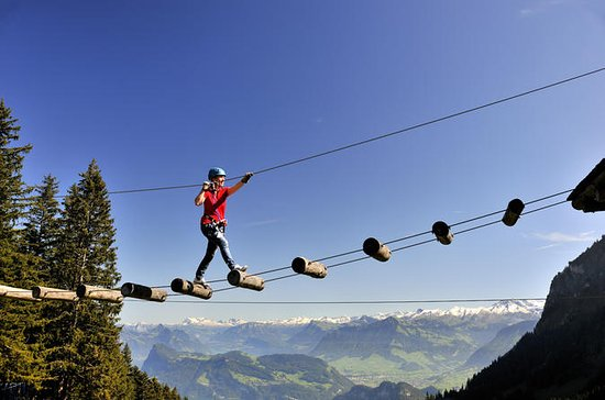Mount Pilatus Rope Park Entrance...