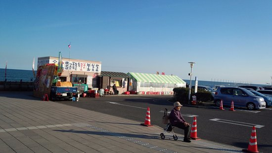 Aqua World Ibaraki Prefectural Oarai Aquarium: 駐車場の売店