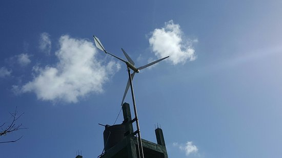 3kW Off Grid Wind Turbine - Picture of Wilpattu Safari Camp