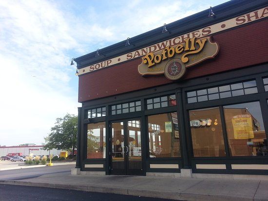 Norridge, IL : entrance to Potbelly Sandwich