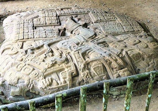 Quirigua, Gwatemala: autel zoomorphe