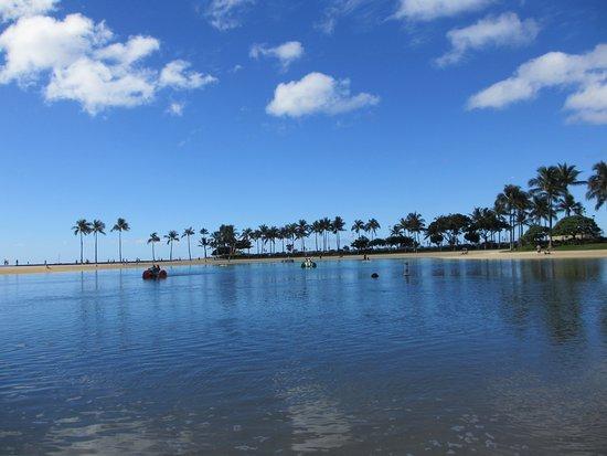 Hilton Hawaiian Village Waikiki Beach Resort: ラグーンです。有料でアクティビティーもできます。