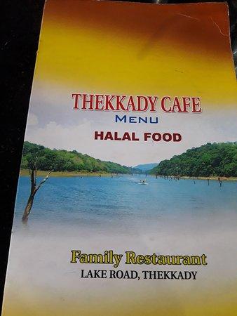 Thekkady Cafe: menu