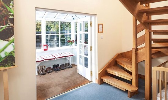 Port of Menteith, UK: Entrance hall looking at porch in The Coach House photo by Neale Smith Photography