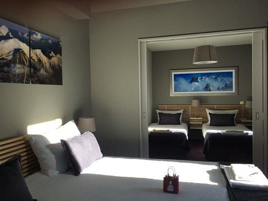 chambre familiale 4 personnes - picture of hotel eden chamonix