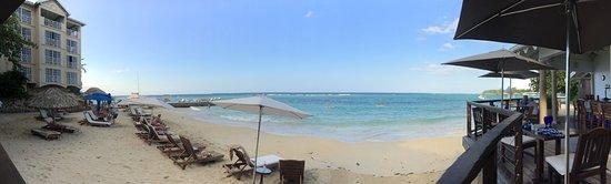 Sandals Royal Plantation: View from beach bar