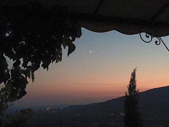 Castiglion Fiorentino, Italia: panorama dal giardino