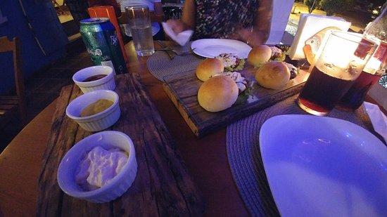 Pousada L'Escale: mini hamburguesas (excelentes)