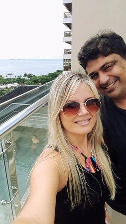 Orla Copacabana Hotel: NA COBERTURA DO HOTEL, VISTA MARAVILHOSA MUITO PRIVILEGIADA.