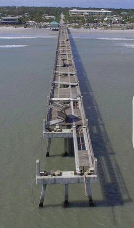 Drone Photo Of Pier In Ruins Jacksonville Pier