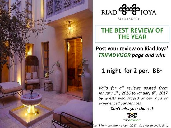 "Riad Joya: CONGRATULATIONS !! THE WINNER IS ""gruntingfrog"" FOR THE COMMENT ""An Oasis in the Medina"""