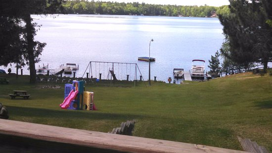 Eagle River, WI: Lakewood view from deck