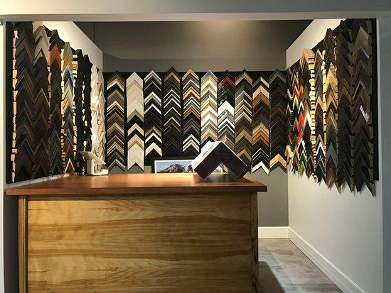 Custom framing using quality sold wood frames, 99% UV glass and acid ...