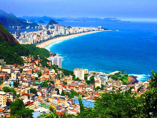 Río de Janeiro, RJ: From the top of the Favela, you can see Ipanema. This is Vidigal!