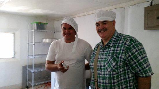 Granada, Nicaragua: Francisco escorting us round the chocolate factory