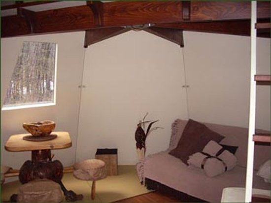 Saint-Romain, Kanada: 5 Tipis tous meublés rustiques et confortable et chauffés au propane.
