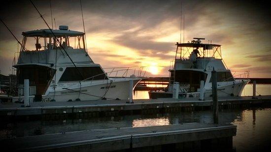 Oswego, NY: Sunset at the Dock, TOP GUN & SON OF A GUN