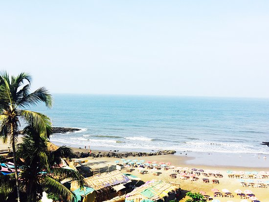 Anjuna, Indien: Beach view from the resort