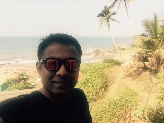Anjuna, Indien: Beach selfie