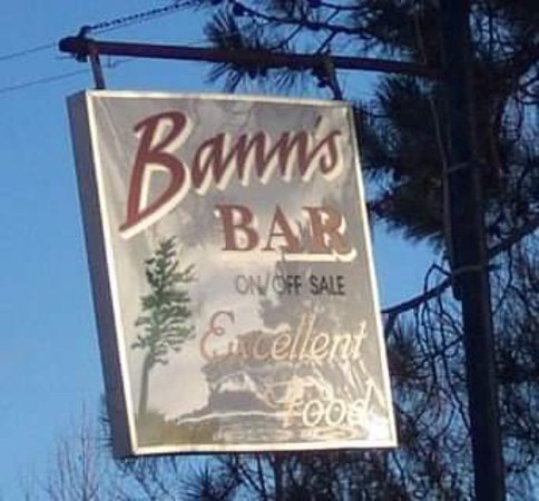 McGregor, MN: Bann's roadside sign
