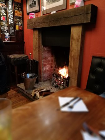 Seamer, UK: The welcome was as cozy as the fire. 😀😀