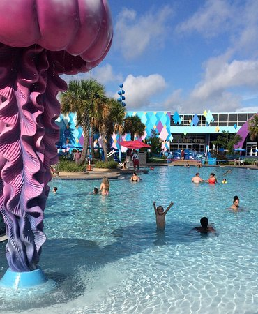 Touring the grounds at art of animation resort