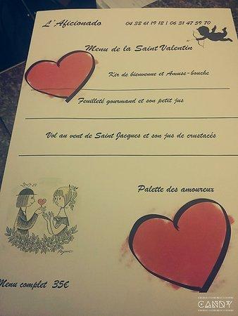 Chateaurenard, Francja: Menu de la Saint Valentin !!