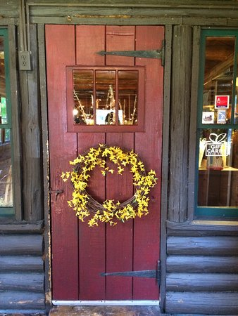 North River, NY: Front door of the lodge.