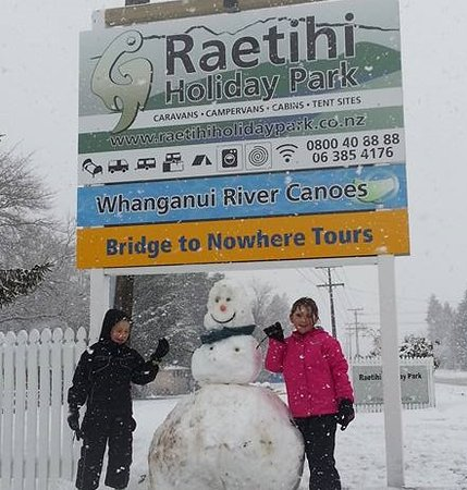 Snow man in Raetihi