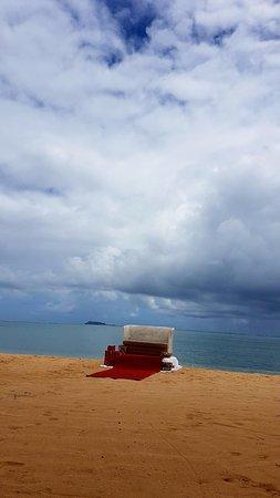 Grand Gaube: Santa's seat on the beach!