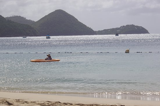 The Landings St. Lucia: fixed floats in swimming area