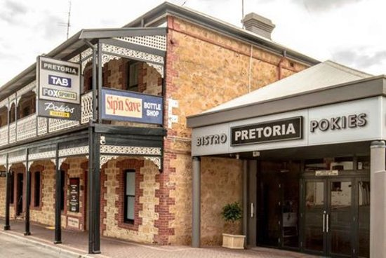 Pretoria Hotel Bistro: Front Entry from Randall Street