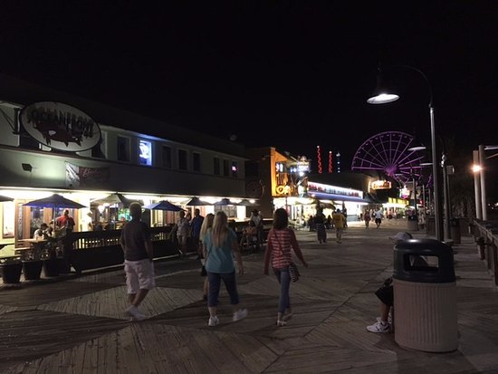 Myrtle Beach Boardwalk Promenade At Night