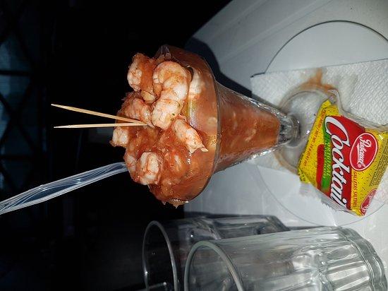 Chiriqui Province, Panama: Ceviche en salsa Roja.